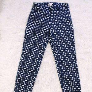 H&M Patterned SLIM High Waist Pants | Size 2